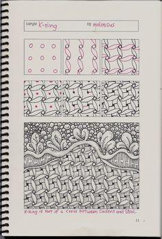 Life Imitates Doodles: New tangle pattern K-ning