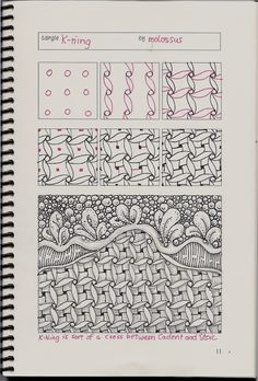 Life Imitates Doodles: New tangle pattern K-ning