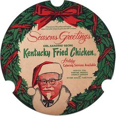 Kfc when it was still called Kentucky Fried Chicken. Kfc Christmas, Ghost Of Christmas Past, Christmas Albums, Retro Christmas, Christmas Photos, Christmas And New Year, Christmas Adverts, Xmas, Christmas History