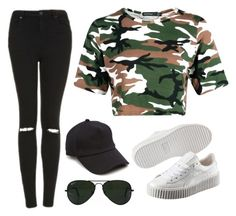 """Untitled #12"" by lakeishajean on Polyvore featuring interior, interiors, interior design, home, home decor, interior decorating, Topshop, Puma, rag & bone and Ray-Ban"