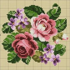Discover thousands of images about Roses cross stitch. Cross Stitch Love, Cross Stitch Flowers, Cross Stitch Charts, Cross Stitch Designs, Cross Stitch Patterns, Cross Stitching, Cross Stitch Embroidery, Hand Embroidery, Kitty Play