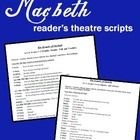 "This is a set of abridged scripts for Macbeth for use in a classroom readers' theater setting. The famous ""Double Double Toil and Trouble"" scene is included - just in time for Halloween! Get your costumes and starting acting!"