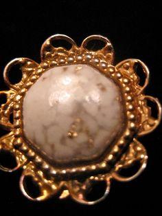Gold Detail Marble Clip Earrings. $12.00, via Etsy.