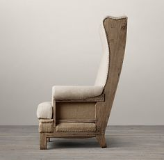 Deconstructed Highback Wing Chair - I would have a BLAST reupholstering this!