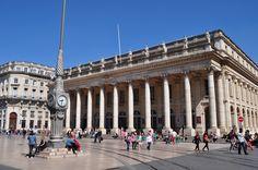 Grand-Théâtre, Bordeaux, façade sur la Place de la Comédie.