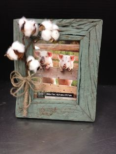 cotton boll picture frame