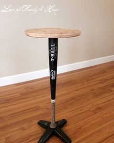 My house will have one room with all sorts of baseball type of tables and crafts