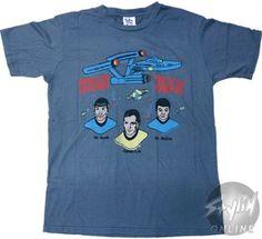 Black Friday Weekend Sale - Star Trek Busts Names T-Shirt Sheer