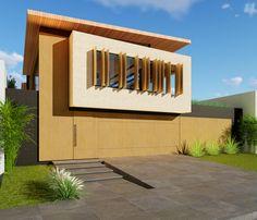 Residencia em terreno de frente pro lago no condomínio Sun Lake, em Londrina - PR. Arquitetura: Architec Projetos + VHS Arquitetura.