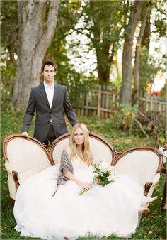 1 year wedding anniversary photo shoot. Wear your wedding dress again!