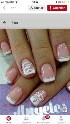 Nail Designs, Nail Art, Nails, Nail Ideas, Ideas Para, Beauty, Wedding, Enamels, Nail
