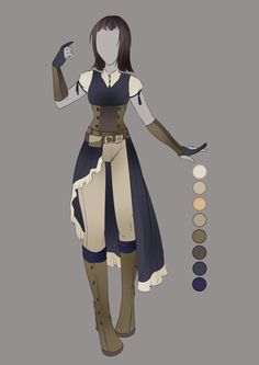 :: July Commission 03: Outfit Design :: by VioletKy.deviantart.com on @DeviantArt