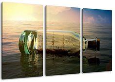 Cubierto de tres piezas en general 120x80, pintura sobre tela, imágenes enormes XXL completamente terminados y enmarcadas con camilla, la lámina en cuadro de la pared con el marco, y no una más barata que la pintura o la imagen del cartel o banner:, formato de imagen lienzo Botella con el barco TopSale24 http://www.amazon.es/dp/B00I5O3OW4/ref=cm_sw_r_pi_dp_Gve7vb11T6P7M