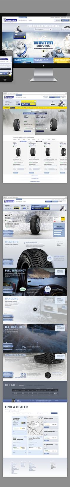 pinterest.com/fra411 #webdesign - Michelin Pitch by Annmarie Akong, via Behance