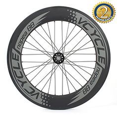 22f35c1056f Amazon.com : VCYCLE Nopea 700C Carbon Fiber Track Wheelset 88mm Clincher  Fixed Gear Single Speed 32/32 Holes (Front Wheel) : Sports & Outdoors