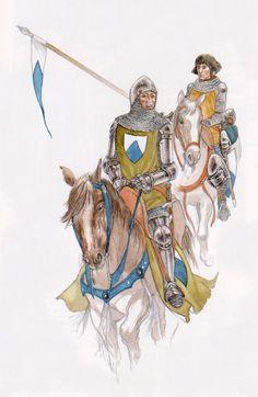 Morgan - Chevalier et écuyer, XIVéme siècle