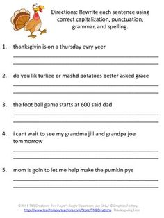 Printables Free Proofreading Worksheets teaching resources math and facts on pinterest thanksgiving free here is a proofreading worksheet for you students to enjoy