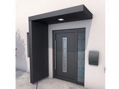 Ideas Front Door Porch Canopy House For 2020 Door Canopy Modern, Front Door Canopy, Modern Entrance Door, Front Door Porch, Modern Front Door, House Front Door, Front Door Design, House With Porch, House Doors