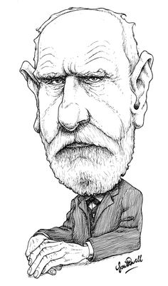 Philosopher Wilhelm Dilthey for The Philosophers' Magazine. Original available - contact me: www.woodpig.co.uk/contact