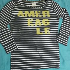 American Eagle 🚨  FINAL PRICE   🚨   American Eagle  quarter sleeve cotton blend shirt This is not a. Long sleeve shirt it comes just a lilttle under the elbow Allmost new worn once Perfect condition Size Large   I have other long sleeves shirts dresses sneakers tank tops as well   BUNDLE  to save The items you want in bundle will be discounted    Smoke Free Pet free home American Eagle Outfitters Sweaters Crew & Scoop Necks