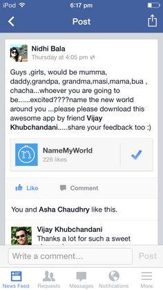 Nidhi Bala, on Facebook