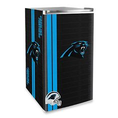 [[start tab]] Description Show off the history of the NFL Carolina Panthers football team with this colorful counter height refrigerator. The refrigerator features one of the legacy logos of your favo Carolina Panthers Football, Panther Football, Panthers Team, Football Team, Mini Fridge With Freezer, Panther Nation, Ultimate Man Cave, Sliding Shelves, Dark Wood Stain