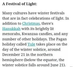Yule history Kwanzaa, Hanukkah, Winter Festival, Festival Lights, Menorah, Set You Free, Winter Solstice, Yule, Pagan