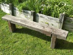 Rustic 100 year old railway sleeper bench