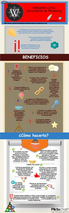 Wikipedia como herramienta de marketing #infografia #infographic #marketing #socialmedia