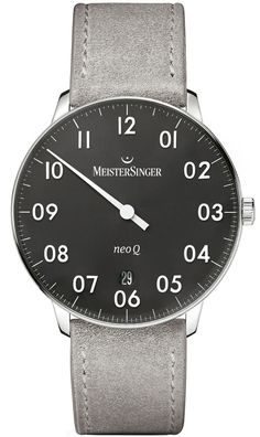 d65d202433d MeisterSinger Watch NEO Q Suede Grey Watch available to buy online from  with free UK delivery.