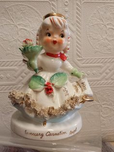 1950's JANUARY Carnation ANGEL Figurine.
