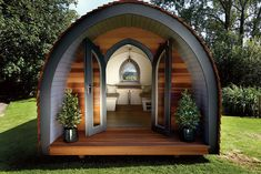 We've created the ideal garden room with our garden pods, contemporary style thatblends perfectly with its environment. The result will grace any garden.