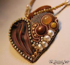 Abalorios Ababeads: Corazon Shibori ybead embroidery  Me encanto hac...