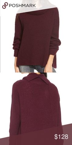 FP Turtleneck Sweater Fun plum color in a waffle knit texture! Feel free to make a reasonable offer! Free People Sweaters Cowl & Turtlenecks