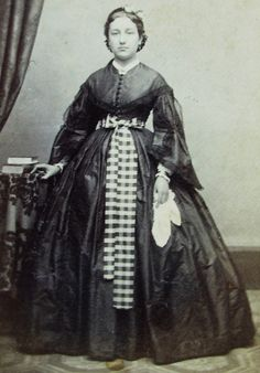 Antique Civil War Era CDV Photo Lovely Young Woman Wearing A Pretty Hoop Dress | eBay