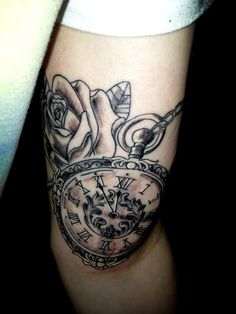 pocket watch tattoos   Pocket Watch Tattoos – Designs and Ideas