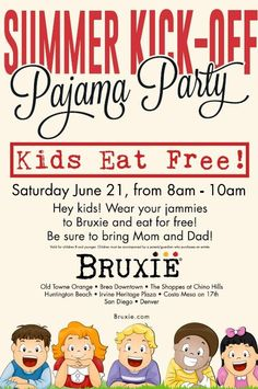 Pajama Party at Bruxie - Old Towne Orange #free #bruxie #oldtownorange