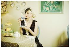 Vintage Fashion Photography - Afternoon Tea