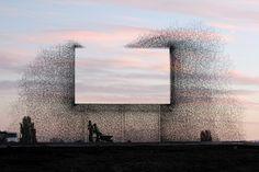 """Seattle's """"negative billboard"""" installation by Lead Pencil Studio"""