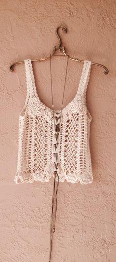 Bohemian Gypsy crochet top