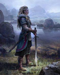Title: Viking Woman Artist: John Wallin Liberto