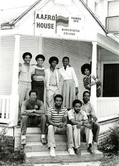 The original AAFRO House, now the security building. AAFRO was merged in to what is now the Multicultural Center at Manchester University. Manchester College, North Manchester, Black History, Indiana, The Past, African, Culture, Black And White, University