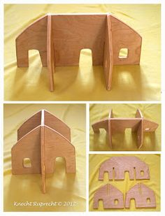 Knecht Ruprecht Waldorf Dolls: Portable Imaginative Play Waldorf Dollhouses