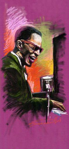 Jazz. Ray Charles - Yuriy Shevchuk on Fine Art America