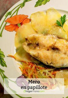 Receta de Karlos Arguiñano de mero en papillote con verduras al horno.