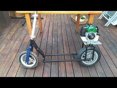 Budowa Hulajnogi spalinowej How to Make gas scooter skateboards 가솔린 스쿠터 Electric Kart, Bike Drift, Gas Powered Scooters, Build A Go Kart, Bike Cart, Gas Scooter, Mini Bike, Offroad, Inventions