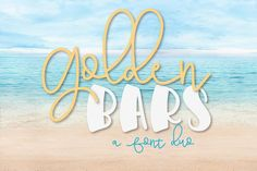 Including a HUGE 52 fonts, this amazing bundle is only available for a limited time at off the Regular Retail Price.As always, this bundle comes with our Premium License for Personal and Commercial Use.Golden Bars - A Font Pair Handwritten Fonts, All Fonts, Dingbat Fonts, Typography Fonts, Font Squirrel, Beautiful Fonts, Pretty Fonts, Beautiful Life, Cricut Fonts