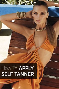Self tanner application tips: how to apply your tanner to the trickiest areas.