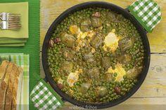 Hui dinem això, però sense cuixot! mmmm Guisantes y alcachofas con huevos by webos fritos, via Flickr