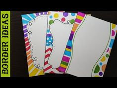 how to make border designs in paper, border designs on paper, border designs, project work designs, borders for projects You can also check all border tutori. Boarder Designs, Page Borders Design, Project Cover Page, File Decoration Ideas, Hand Lettering Alphabet, Sketches Tutorial, Cartoon Girl Drawing, Birthday Card Design, Decorate Notebook